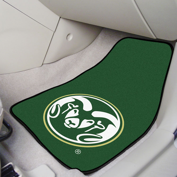 Colorado State Rams Car Floor Mats 18 x 27 Carpeted-Pair