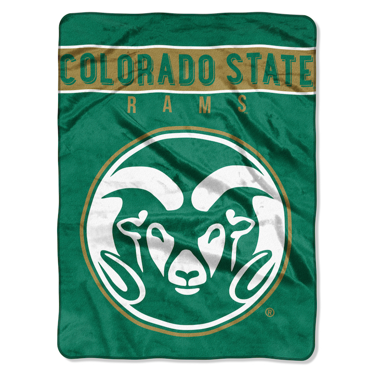 Colorado State Rams Large Plush Fleece OVERTIME 60 x 80 Blanket