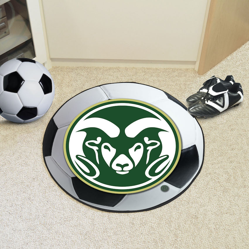 Colorado State Rams SOCCER BALL Mat