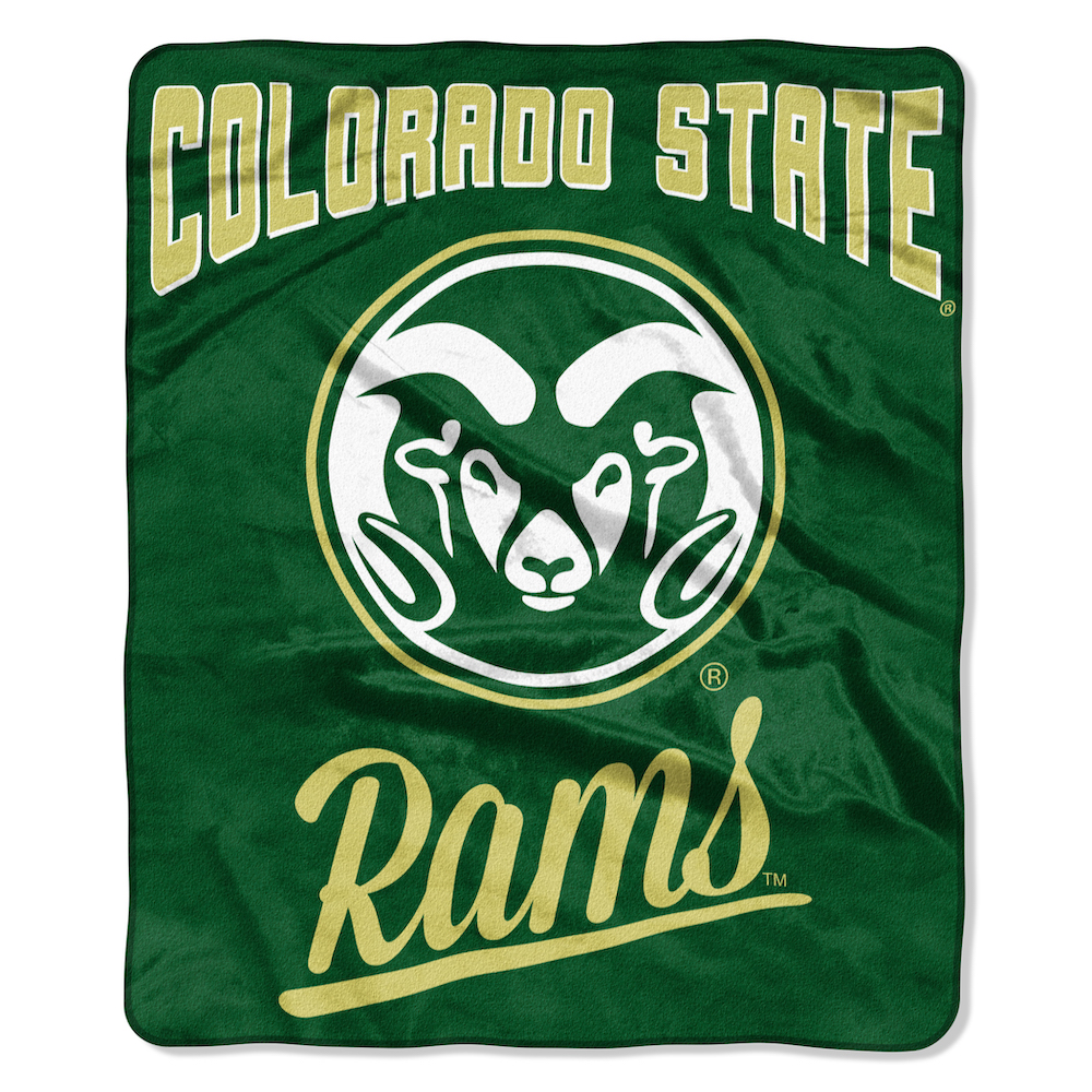 Colorado State Rams Plush Fleece Raschel Blanket 50 x 60