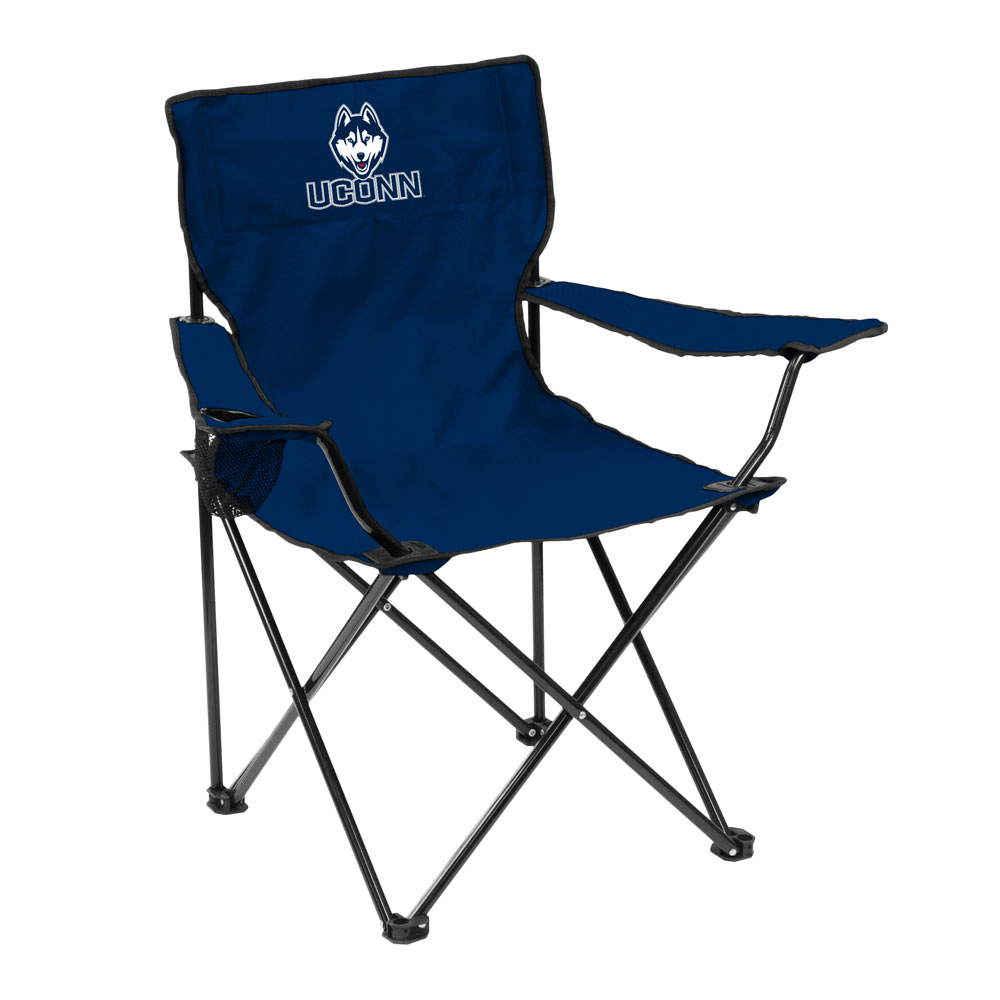 Connecticut Huskies QUAD style logo folding camp chair