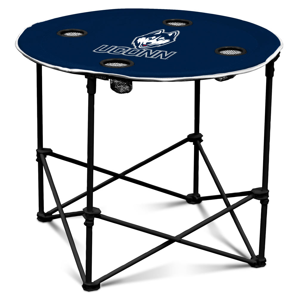 Connecticut Huskies Round Tailgate Table