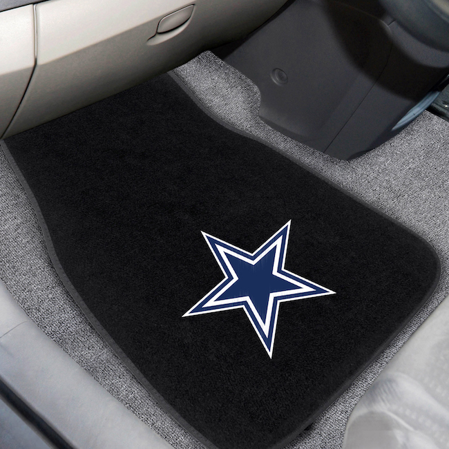 Dallas Cowboys Car Floor Mats 17 x 26 Embroidered Pair