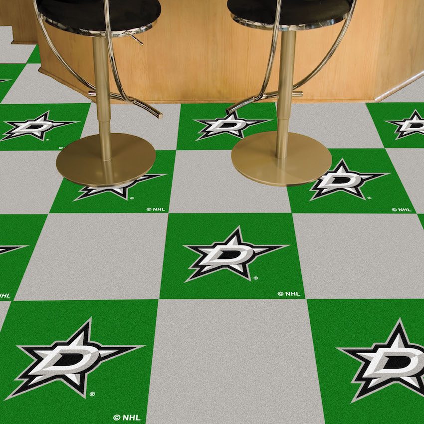 Dallas Stars Carpet Tiles 18x18 in.