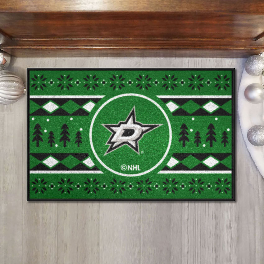 Dallas Stars HOLIDAY SWEATER 20 x 30 STARTER Floor Mat
