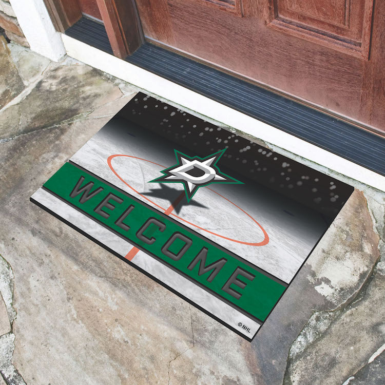 Dallas Stars Recycled Crumb Rubber Door Mat