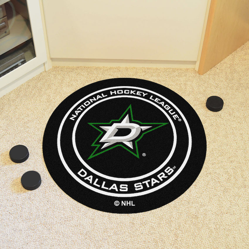 Dallas Stars Round Hockey Puck Mat