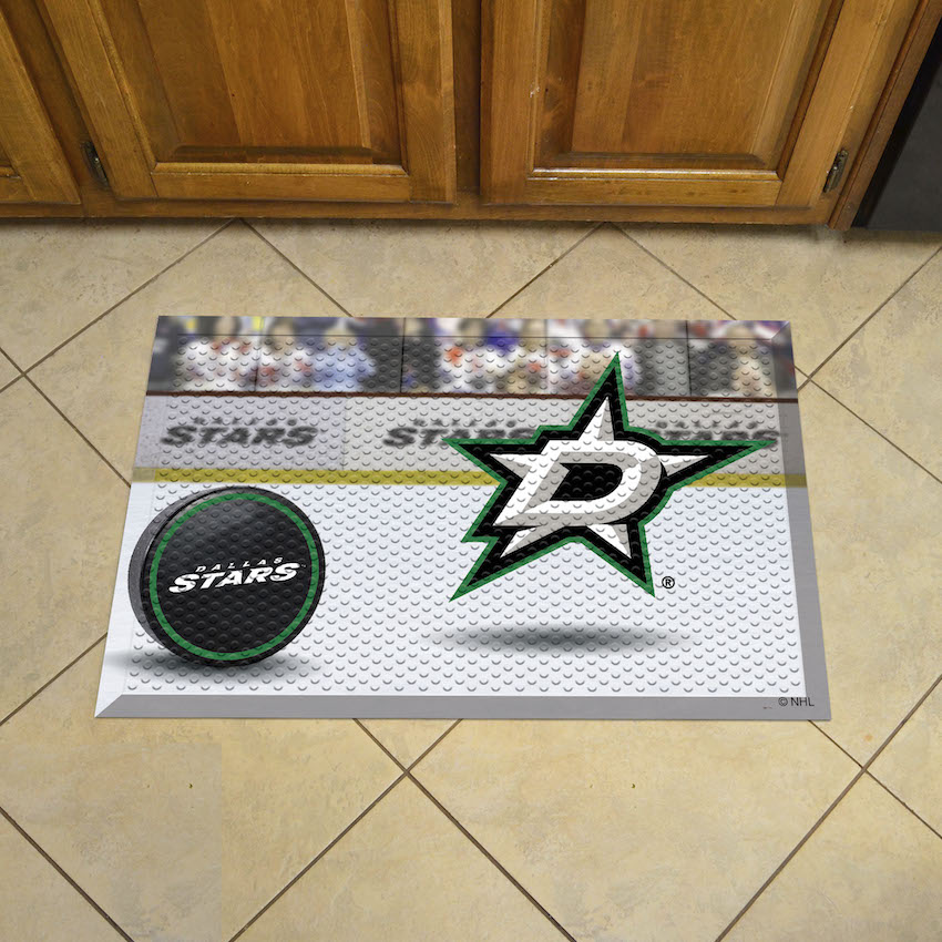 Dallas Stars Puck Style SCRAPER Door Mat