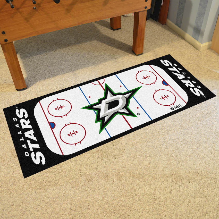 Dallas Stars 30 x 72 Hockey Rink Carpet Runner