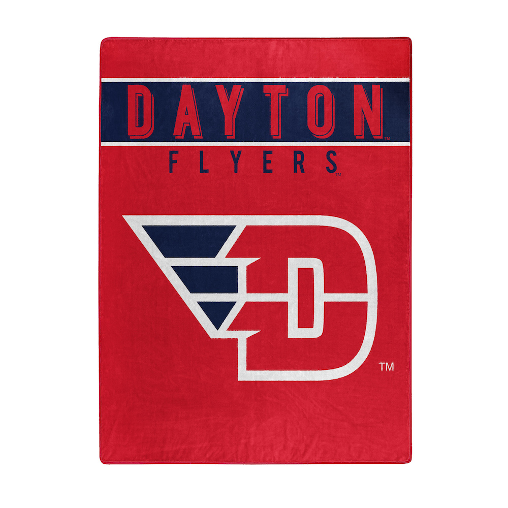 Dayton Flyers Large Plush Fleece OVERTIME 60 x 80 Blanket
