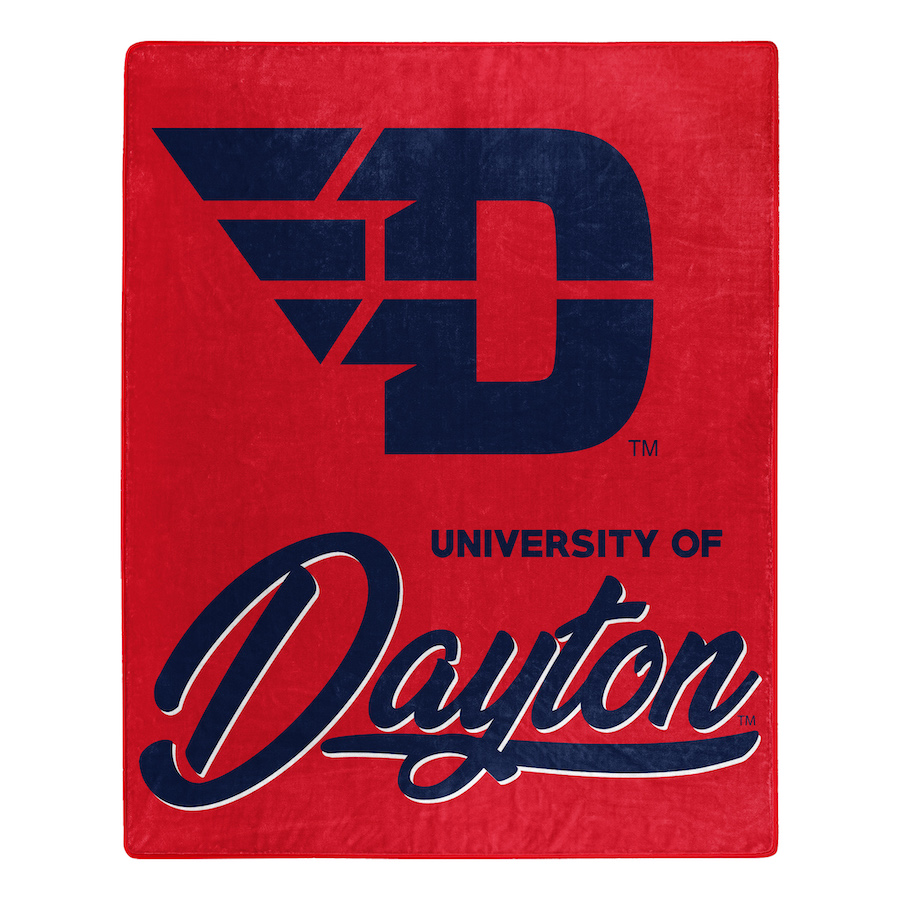 Dayton Flyers Plush Fleece Raschel Blanket 50 x 60