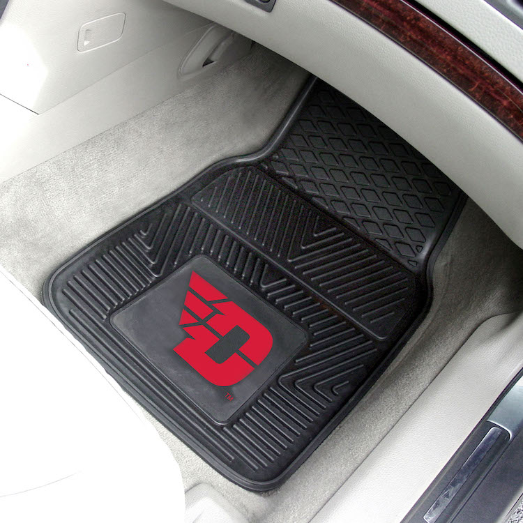 Dayton Flyers Car Floor Mats 18 x 27 Heavy Duty Vinyl Pair