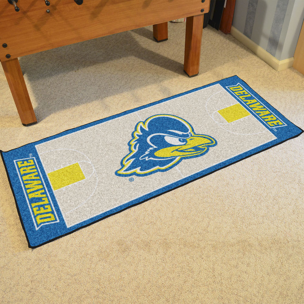 Delaware Blue Hens 30 x 72 Basketball Court Carpet Runner