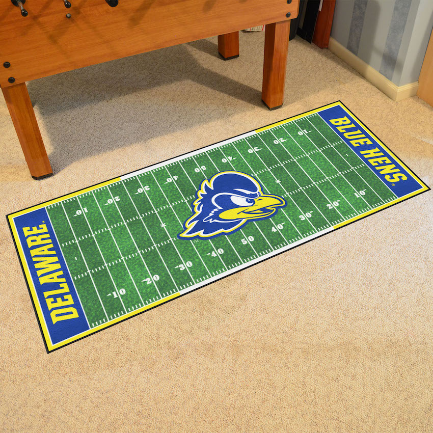 Delaware Blue Hens 30 x 72 Football Field Carpet Runner