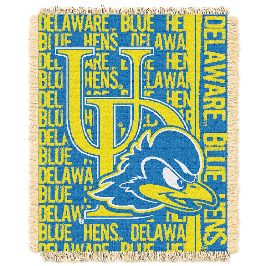 Delaware Blue Hens Double Play Tapestry Blanket 48 x 60