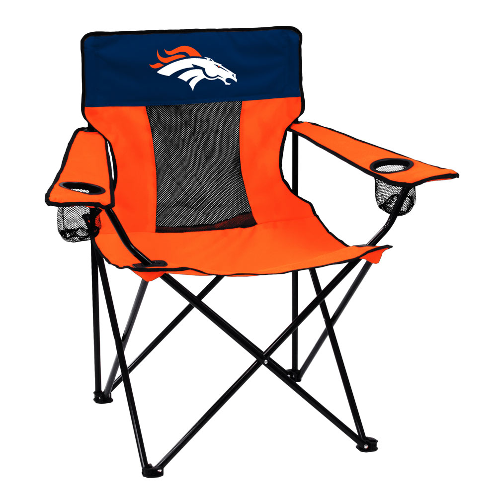 Denver Broncos ELITE logo folding camp style chair