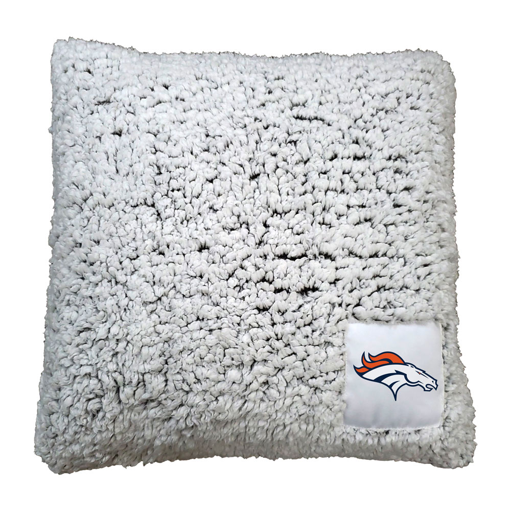 Denver Broncos Frosty Throw Pillow