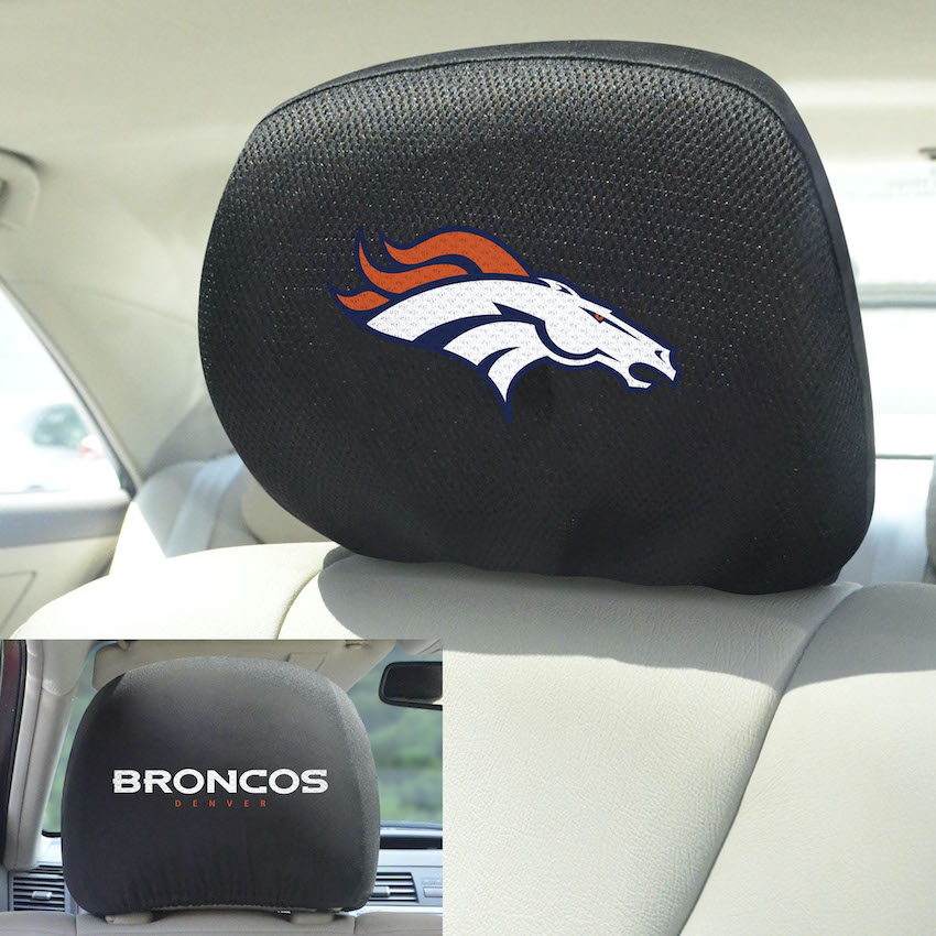 Denver Broncos Head Rest Covers