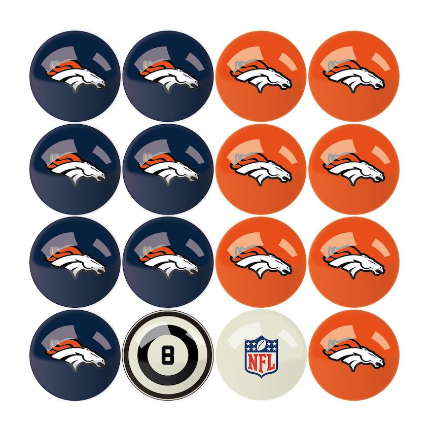 Denver Broncos Home And Away Billiard Ball Set