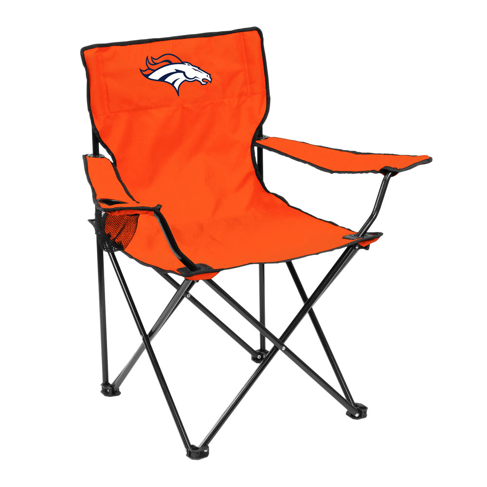 Denver Broncos QUAD style logo folding camp chair