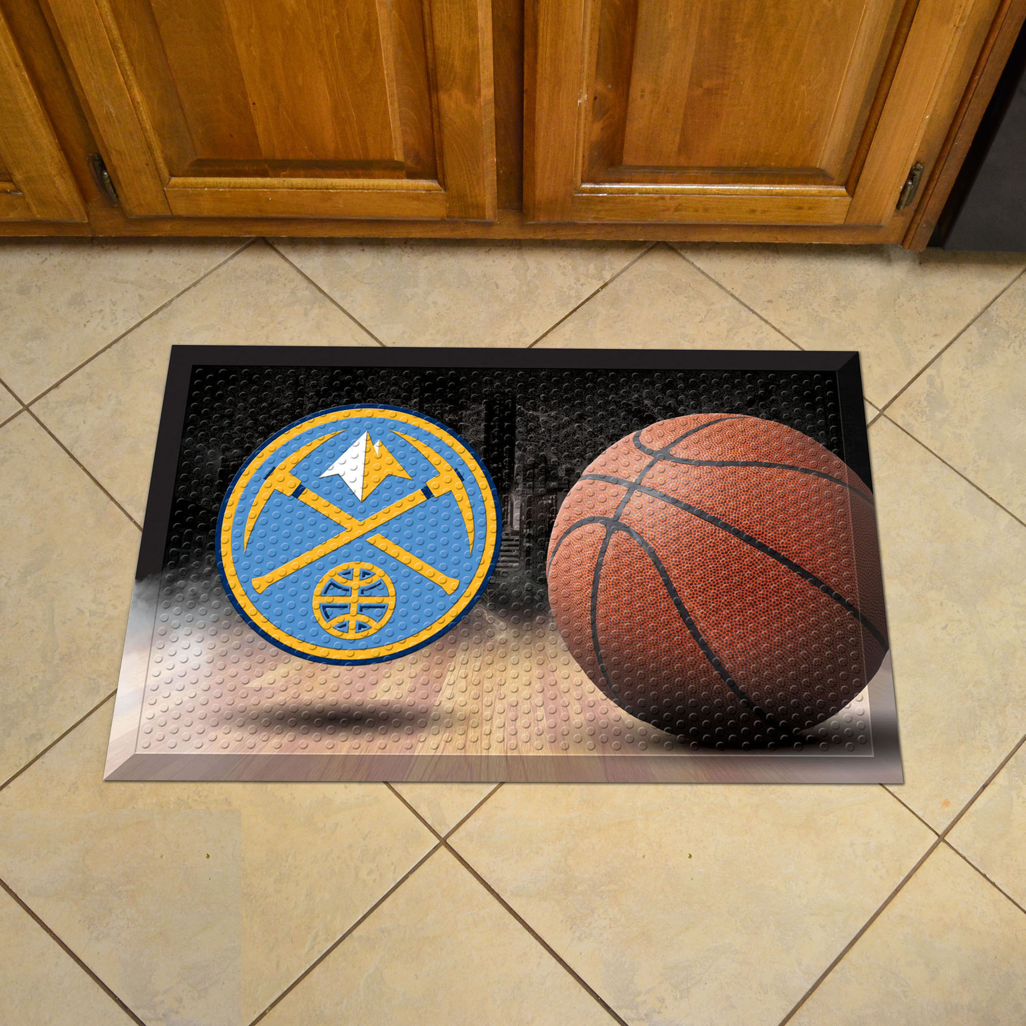 Denver Nuggets Ball Style SCRAPER Door Mat