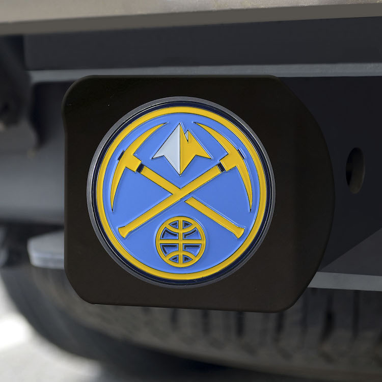 Denver Nuggets Black and Color Trailer Hitch Cover