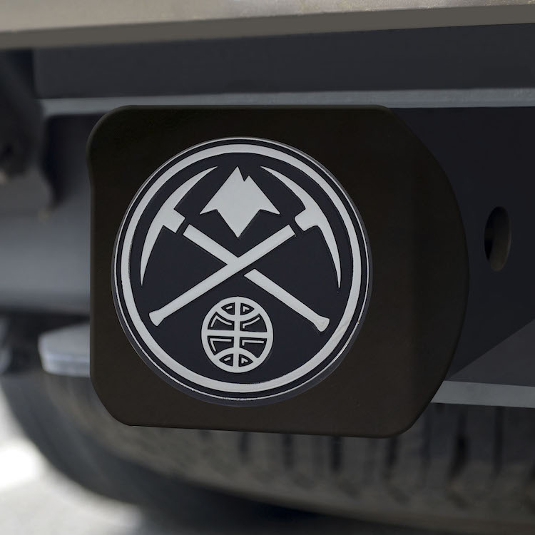 Denver Nuggets BLACK Trailer Hitch Cover