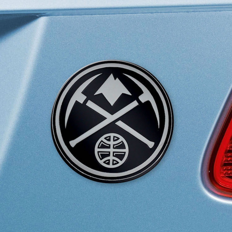 Denver Nuggets Metal Auto Emblem