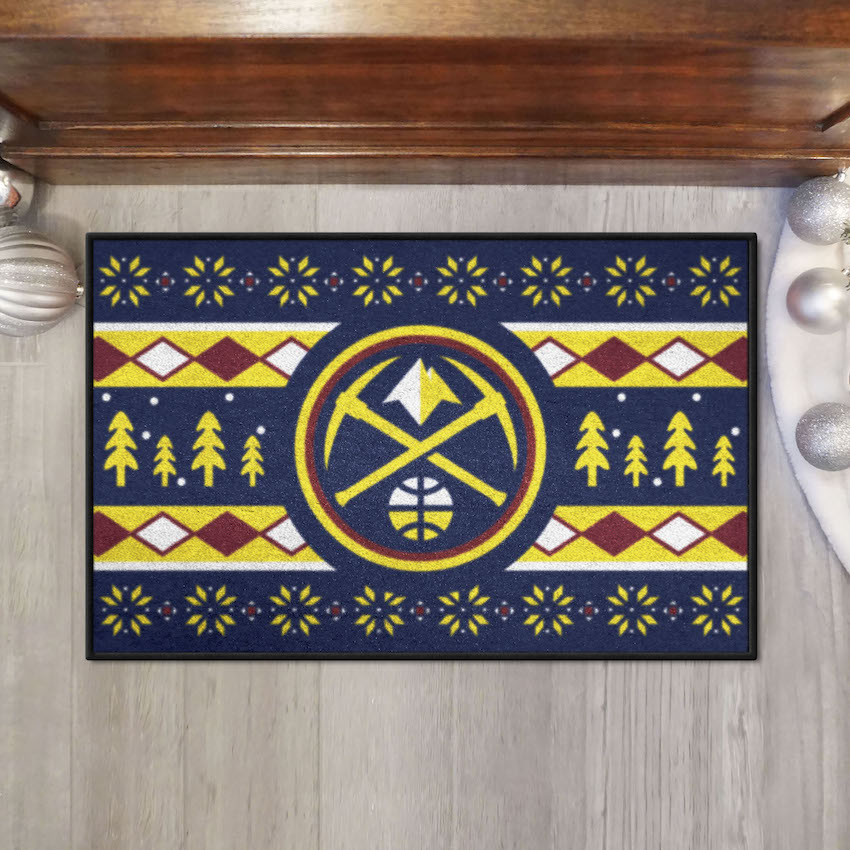 Denver Nuggets HOLIDAY SWEATER 20 x 30 STARTER Floor Mat