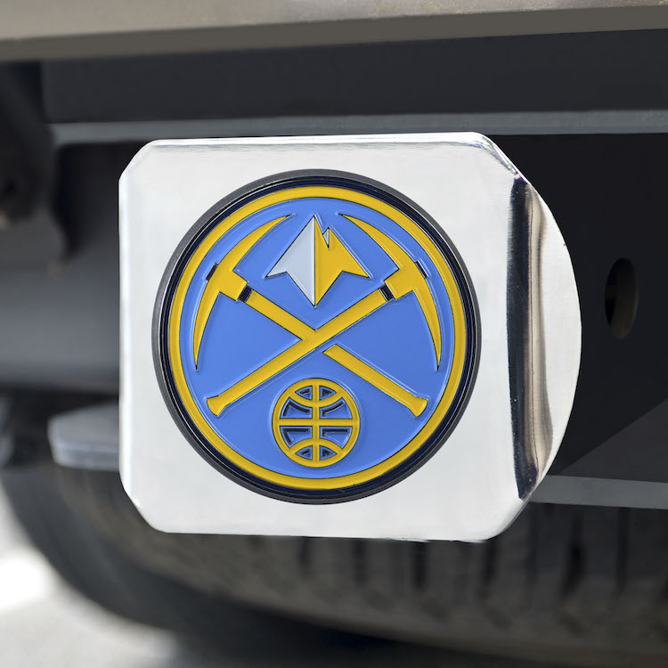 Denver Nuggets Color Chrome Trailer Hitch Cover