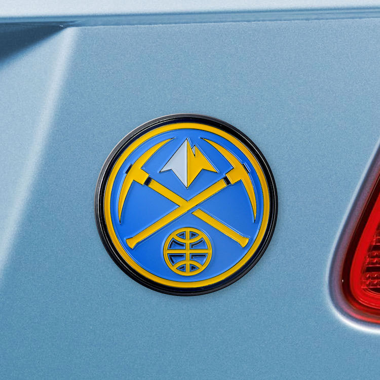 Denver Nuggets Color Metal Auto Emblem
