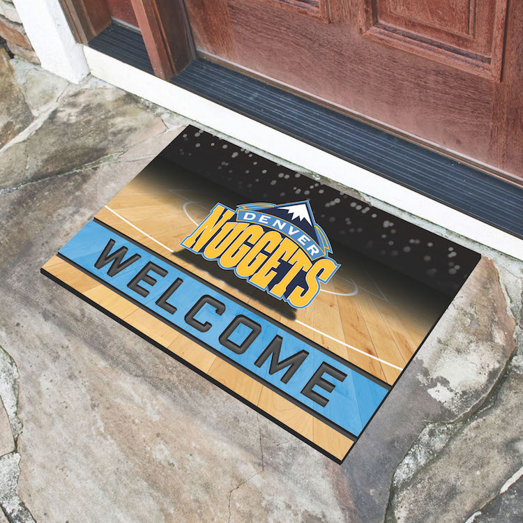 Denver Nuggets Recycled Crumb Rubber Door Mat