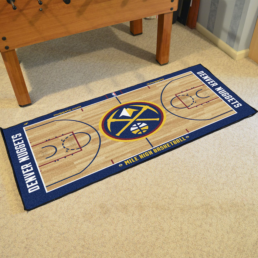 Denver Nuggets 30 x 54 LARGE Basketball Court Carpet Runner