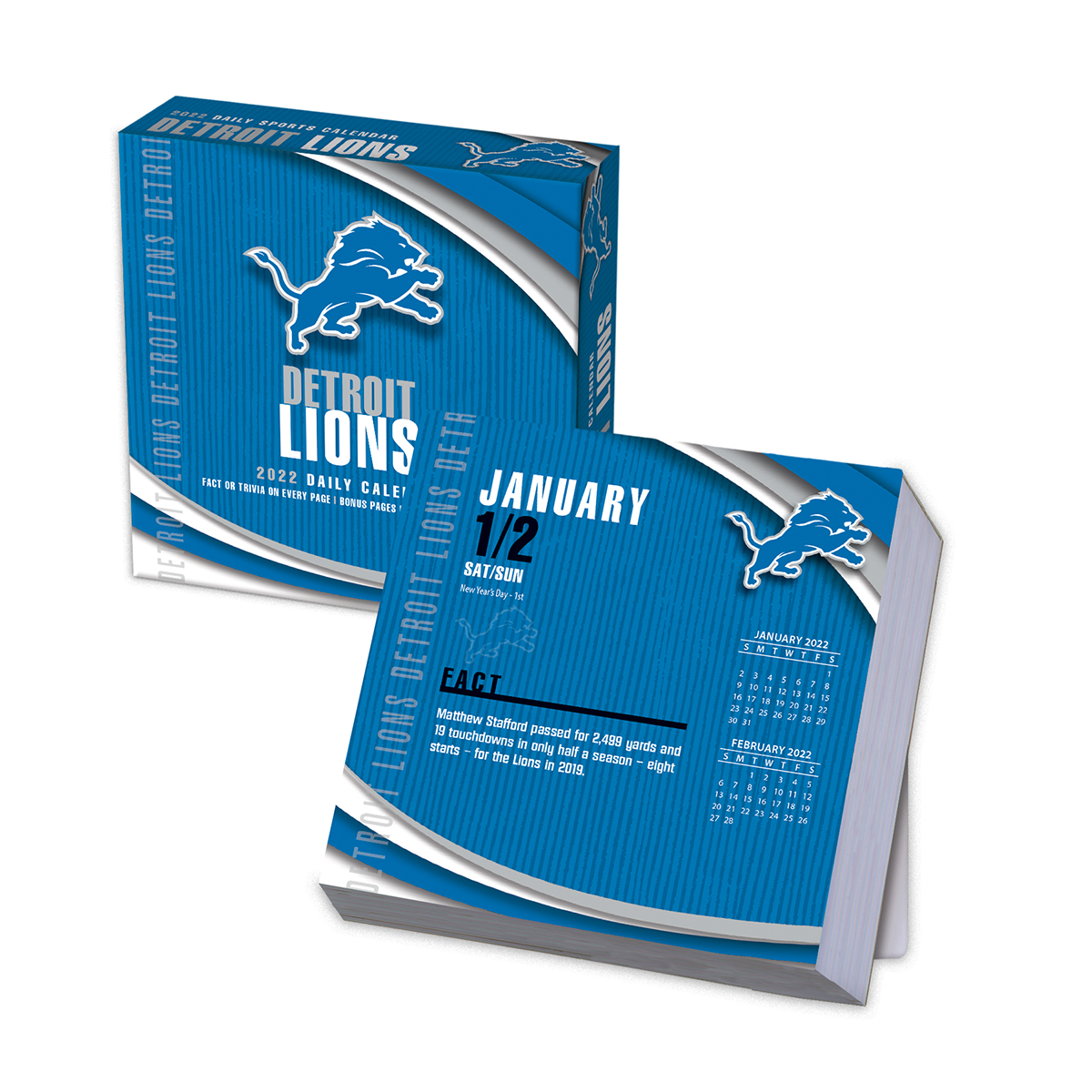 Lions Schedule 2020.Detroit Lions 2020 Nfl Page A Day Box Calendar Buy At Khc Sports
