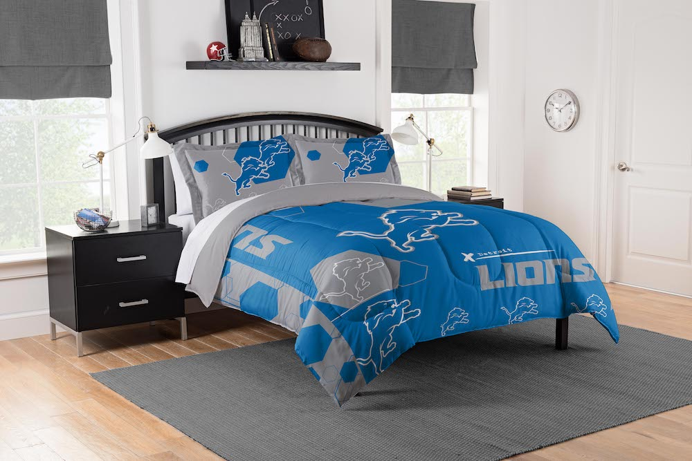Detroit Lions Queen Full Size Comforter And 2 Shams Buy