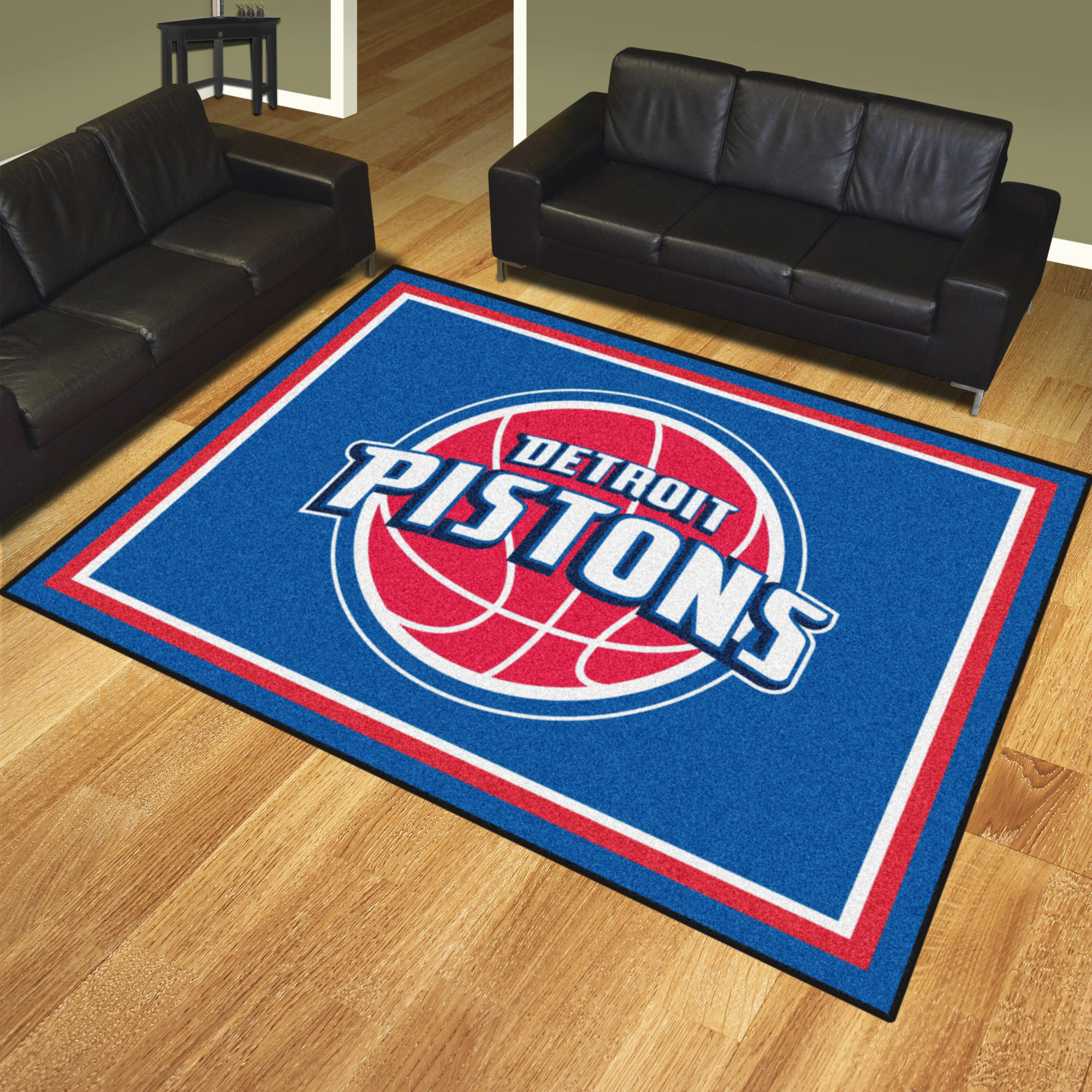 Detroit Pistons Ultra Plush 8x10 Area Rug
