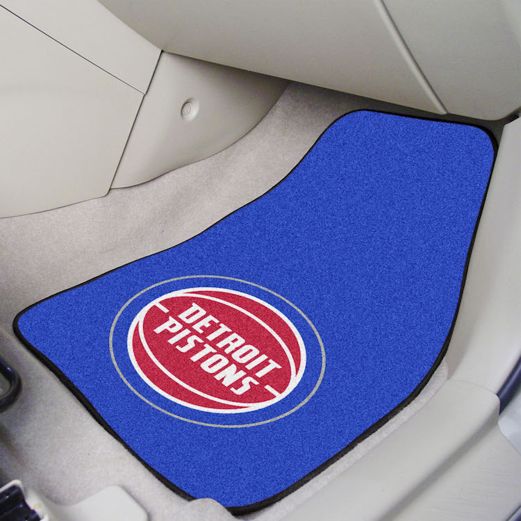 Detroit Pistons Car Floor Mats 18 x 27 Carpeted-Pair