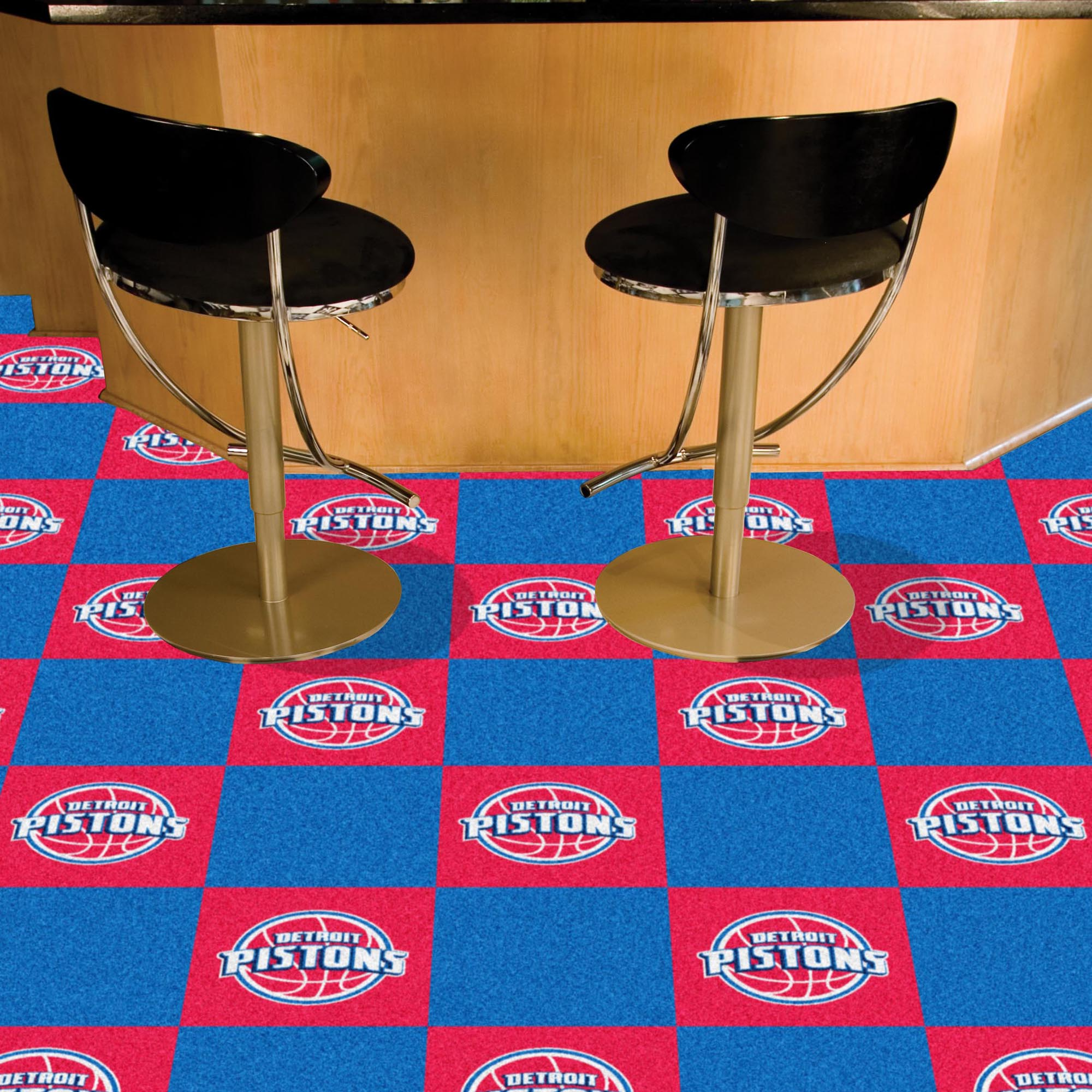 Detroit Pistons Carpet Tiles 18x18 in.