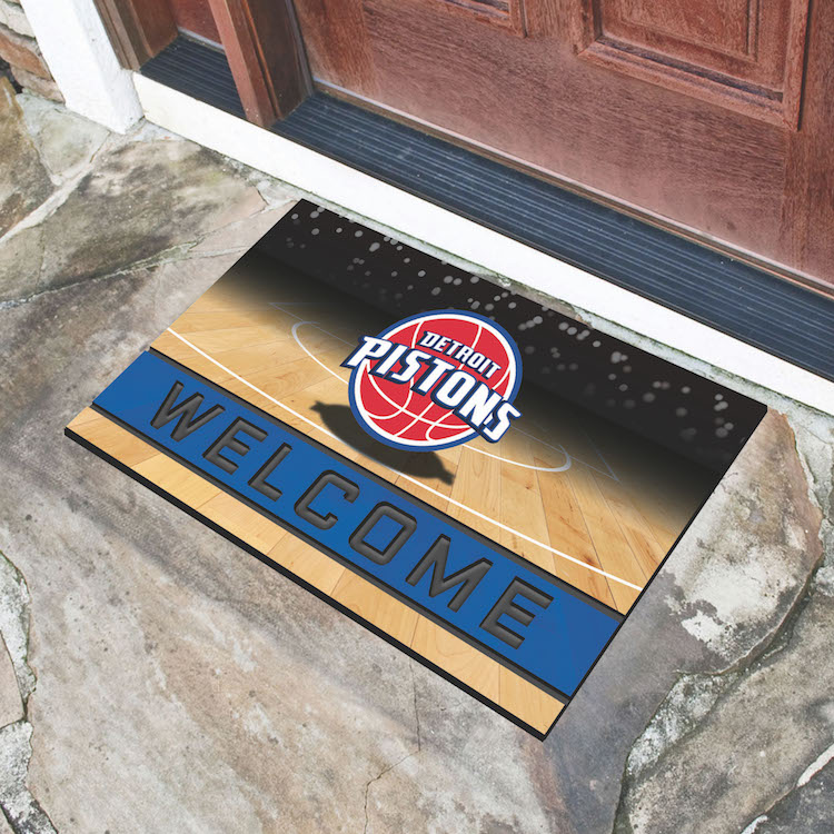 Detroit Pistons Recycled Crumb Rubber Door Mat