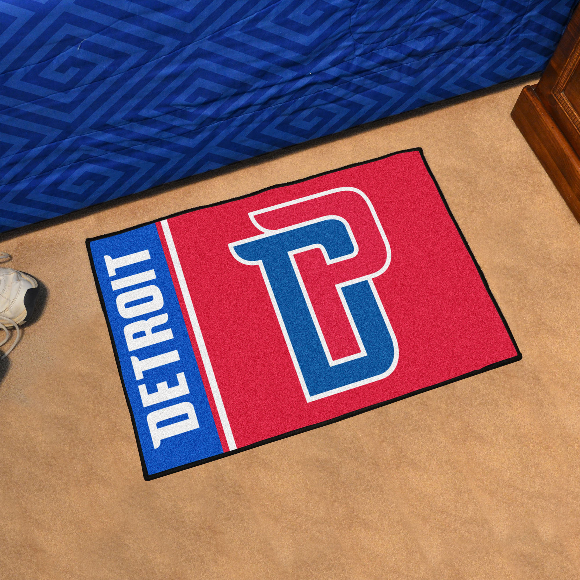Detroit Pistons 20 x 30 Uniform Inspired Starter Rug