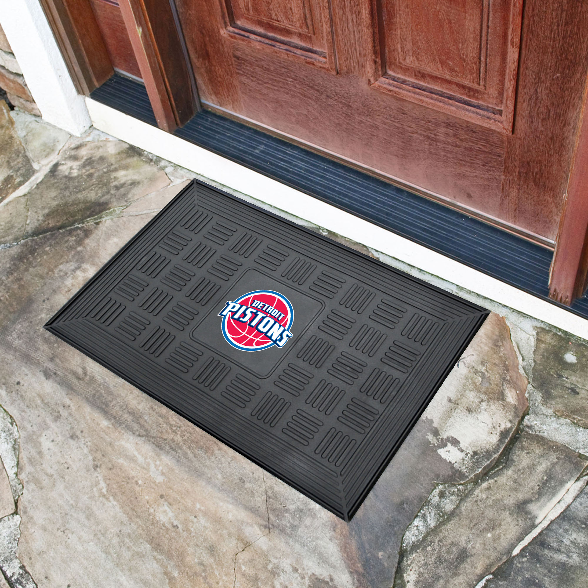 Detroit Pistons MEDALLION Vinyl Door Mat