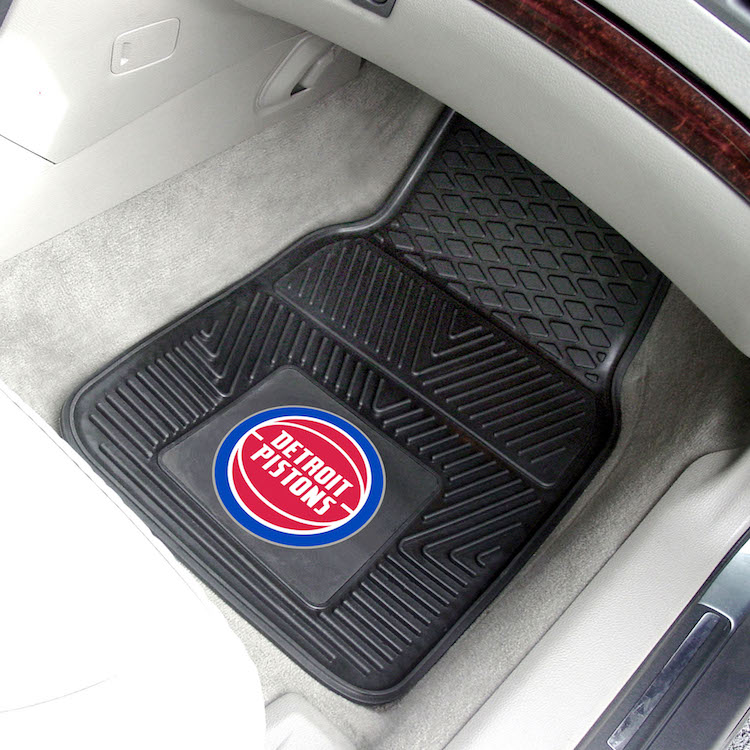 Detroit Pistons Car Floor Mats 18 x 27 Heavy Duty Vinyl Pair