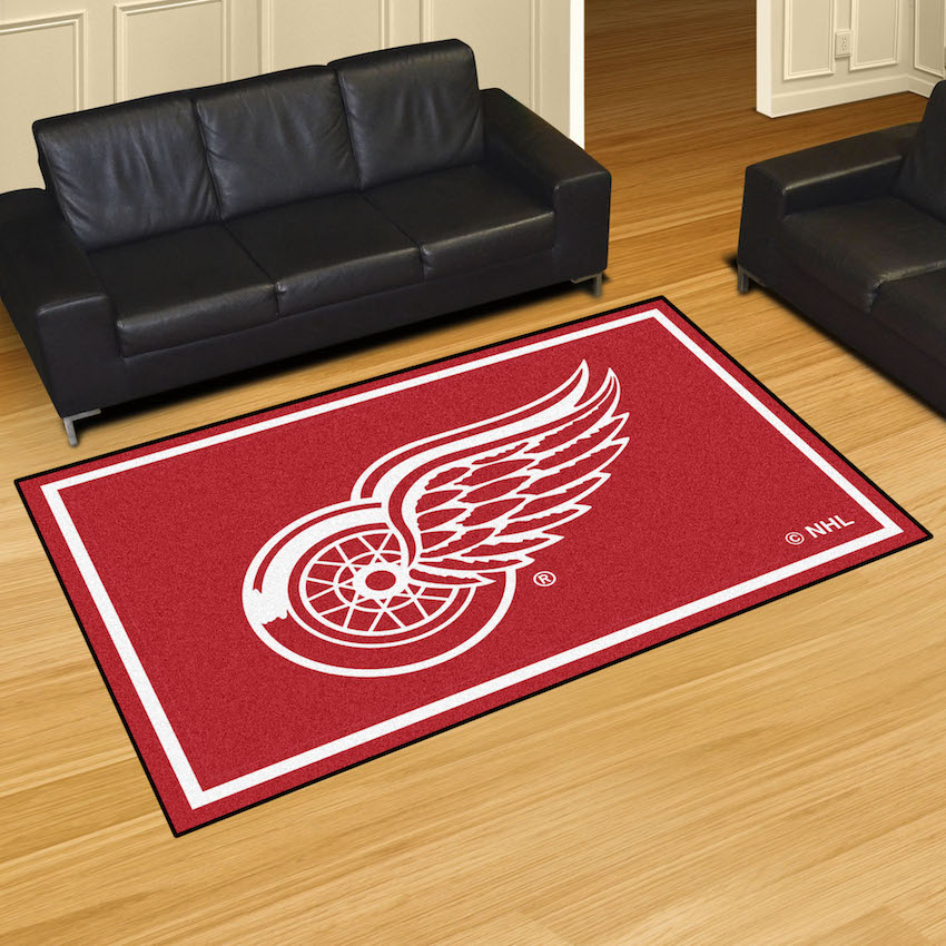 Detroit Red Wings 5x8 Area Rug