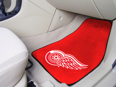 Detroit Red Wings Red Car Floor Mats 18 x 27 Carpeted-Pair