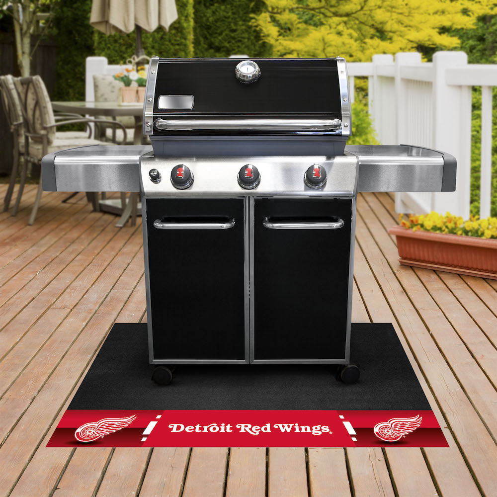 Detroit Red Wings NHL Grill Mat