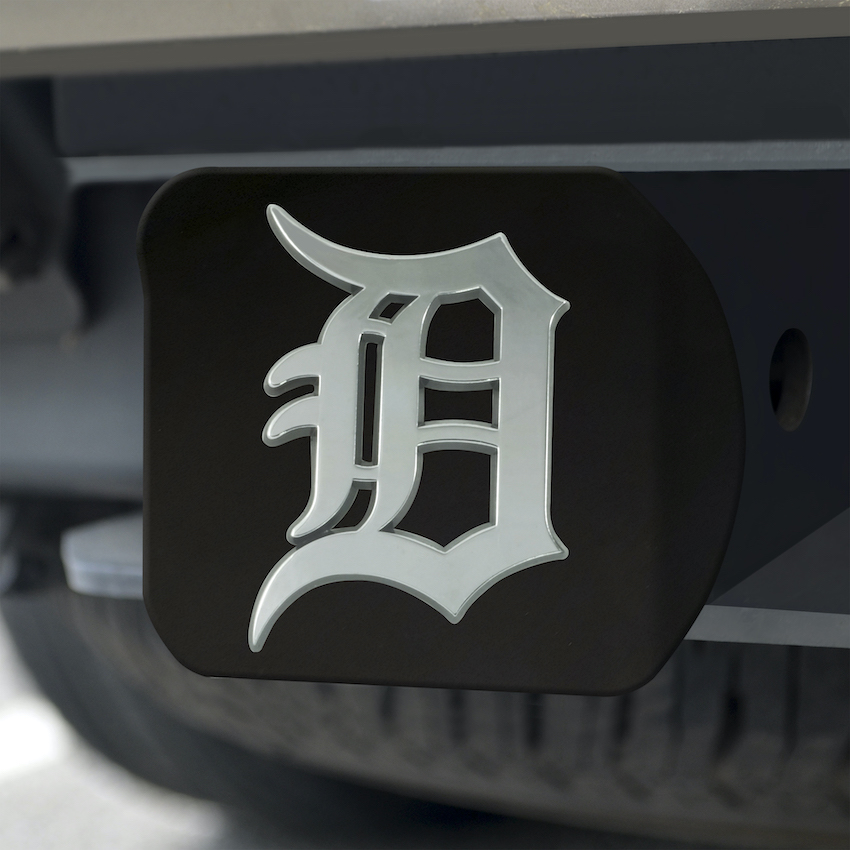 Detroit Tigers BLACK Trailer Hitch Cover