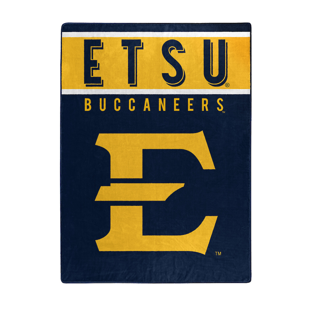 East Tennessee State Buccaneers Large Plush Fleece OVERTIME 60 x 80 Blanket