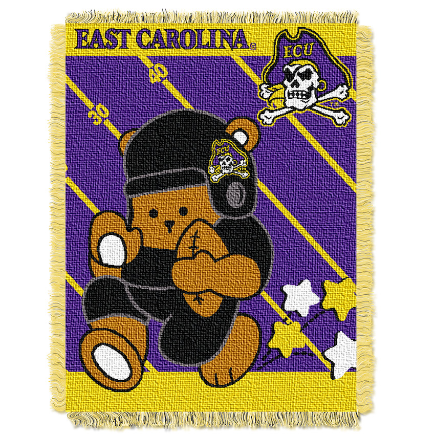 East Carolina Pirates Woven Baby Blanket 36 x 48
