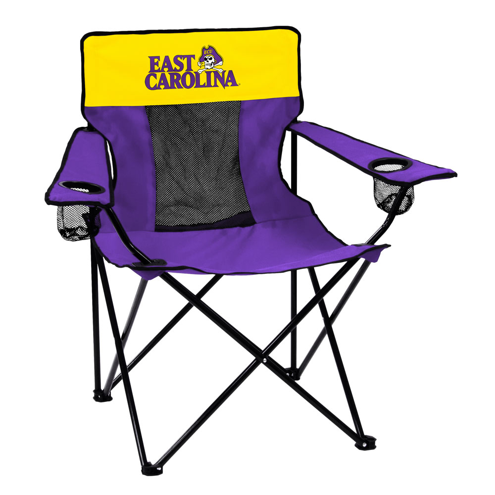East Carolina Pirates ELITE logo folding camp style chair
