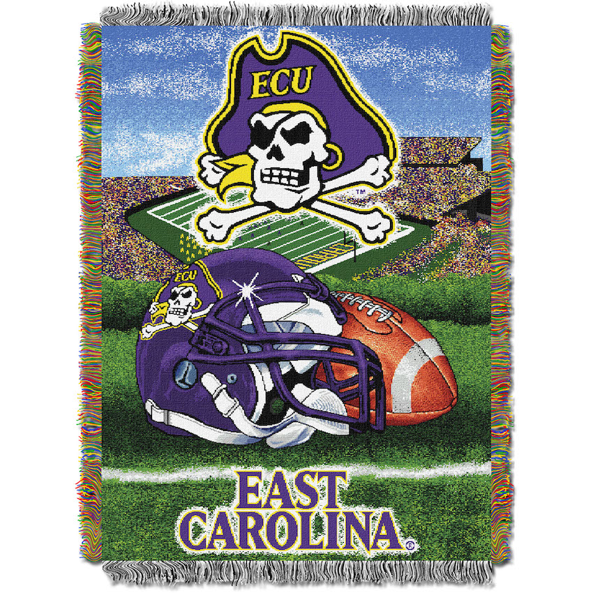 East Carolina Pirates Home Field Advantage Series Tapestry Blanket 48 x 60